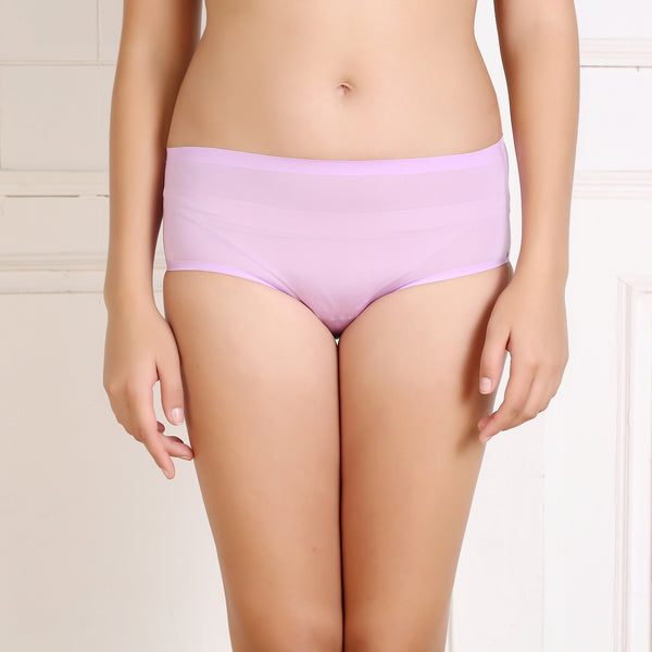 Ficuster Purple Solid Low Rise Bikini Panty