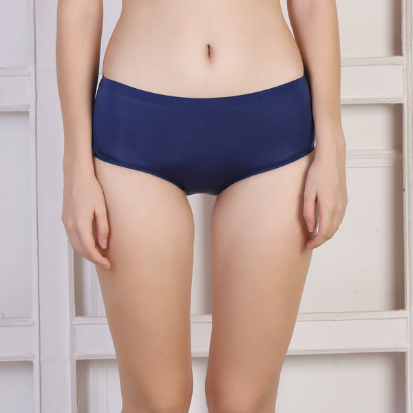Ficuster Navy Blue Solid Low Rise Bikini Panty