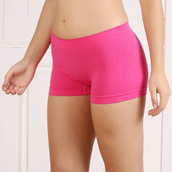 Ficuster Pink High Rise Boyshort Panty