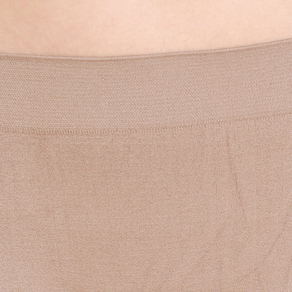 Ficuster Beige Solid High Rise Boyshort Panty