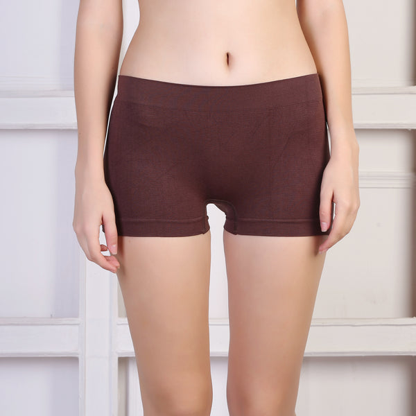 Ficuster Blue Maroon Brown High Rise Boyshort Panty (Pack of 3)