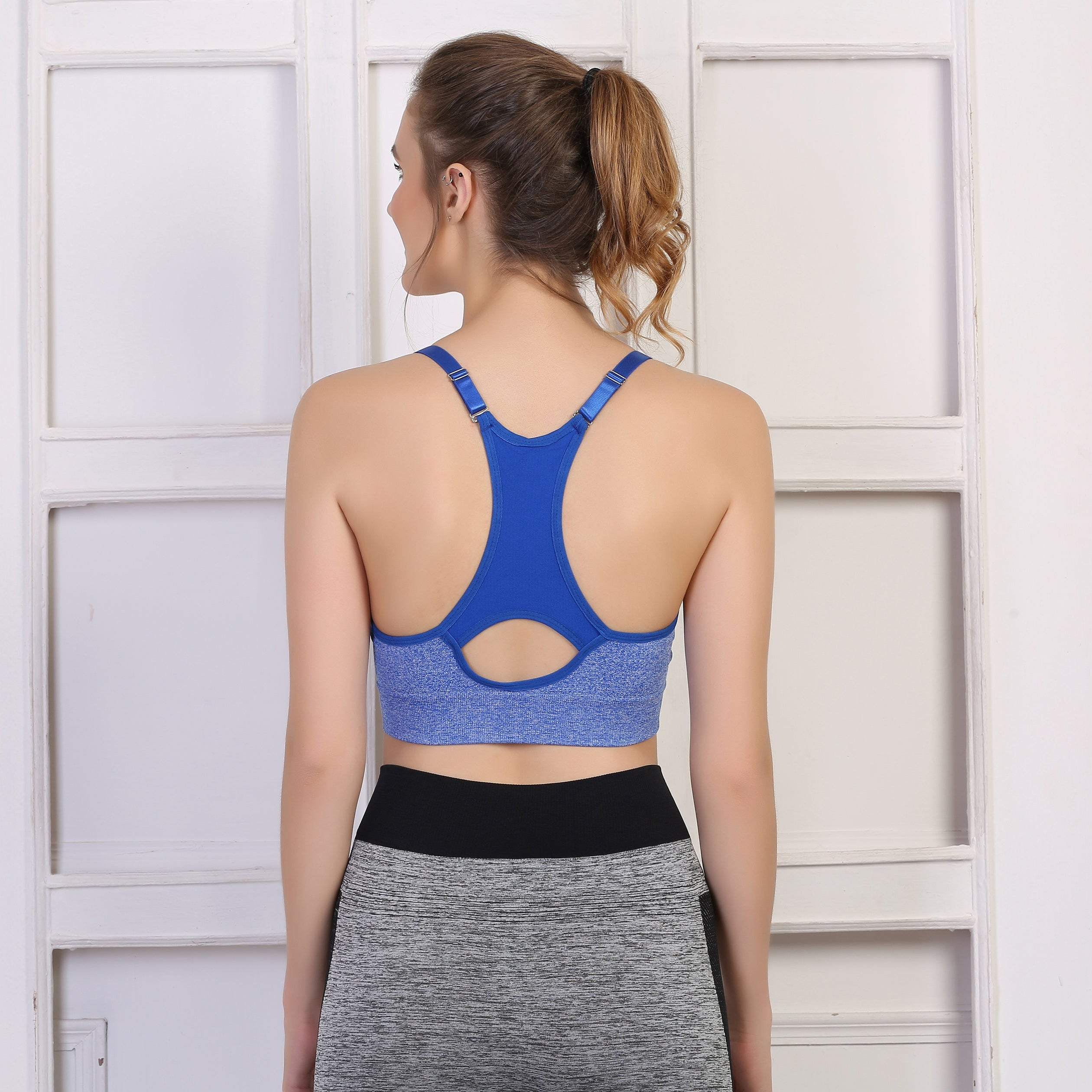 Ficuster Padded  Blue Sports Bra