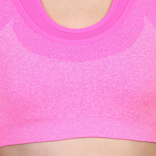 Ficuster Pink Light Weight Sports Bra