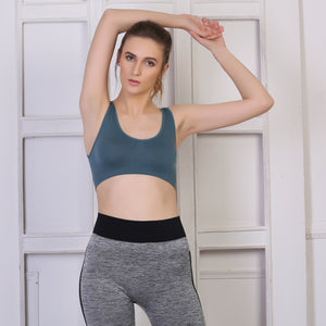 Ficuster Grey Light Weight Sport Bra