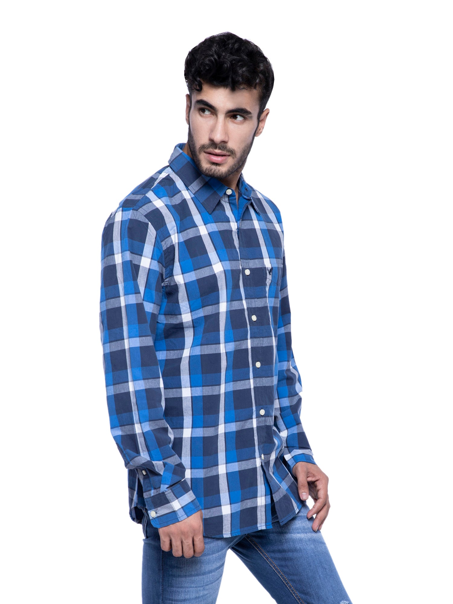 American Eagle Men Checkered Shirt