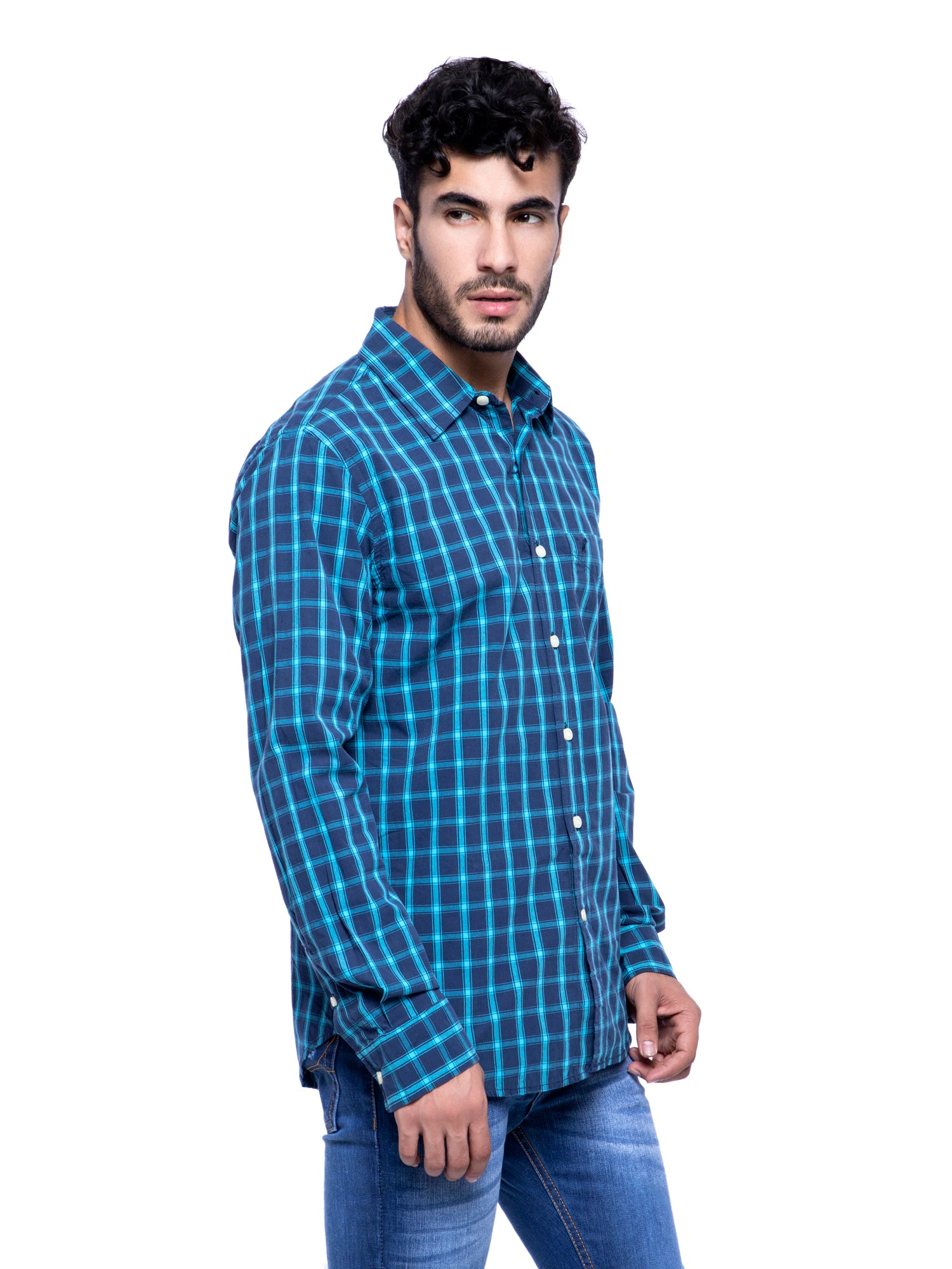 American Eagle Men Multicolor Checkered Shirt