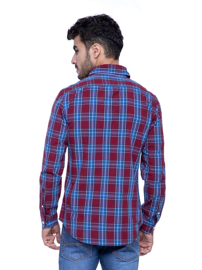 American Eagle Men Plaid Print Shirt