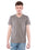 American Eagle Men Grey V-Neck T-Shirt