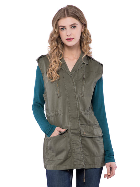 Aeropostale Women Khaki Quilted Jacket