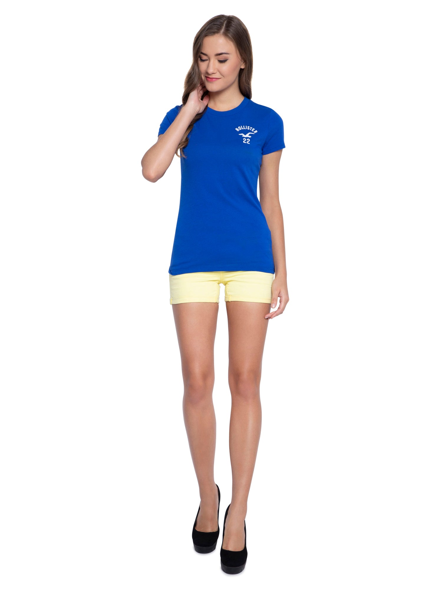 Aeropostale Women Yellow Shorts
