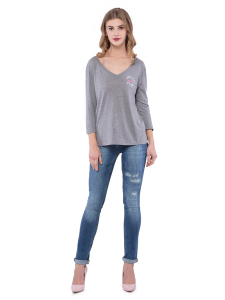 Aeropostale Women Blue Distressed Skinny Jeans