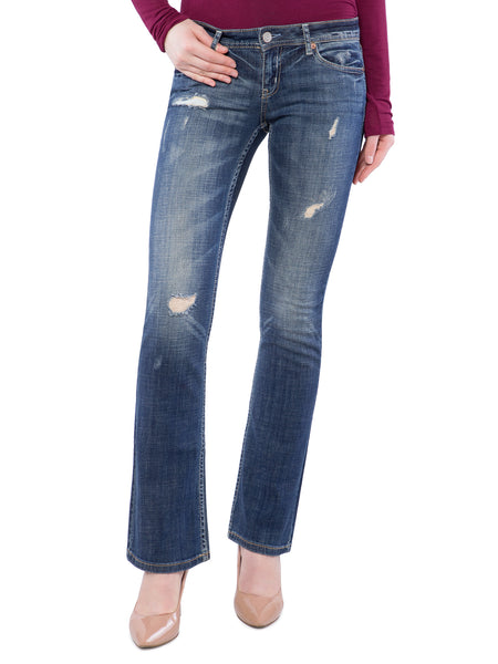 Aeropostale Women Blue Faded Boot Jeans