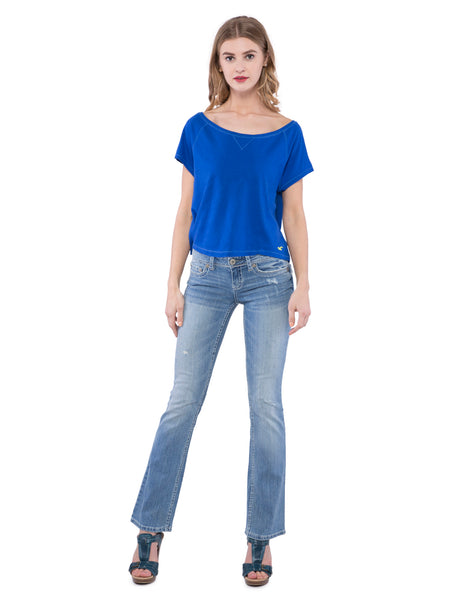 Aeropostale Women Blue Boot Jeans
