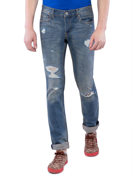Aeropostale Men Blue Slim Straight Jeans