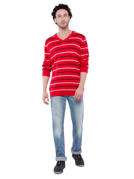 Aeropostale Men Red Full Sleeve Sweater
