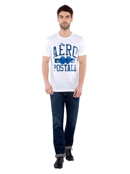 Aeropostale Men White Printed Crew Neck T-Shirt