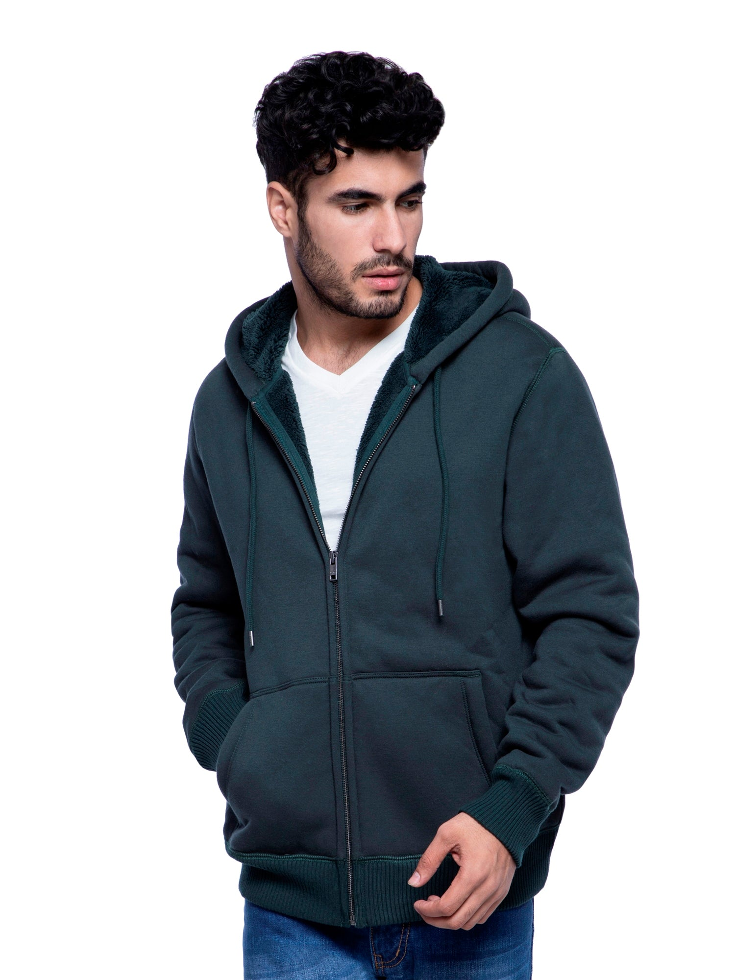 GAP Men Dark Green Hoodie