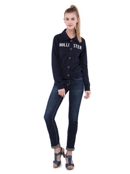 Hollister Women Black Sweatshirt