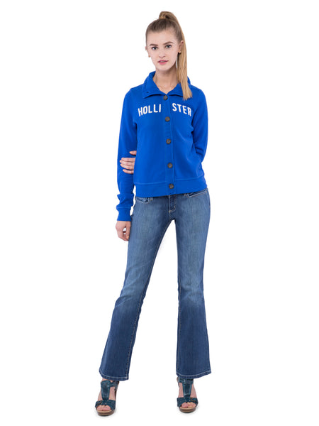 Hollister Women Button Front Sweatshirt