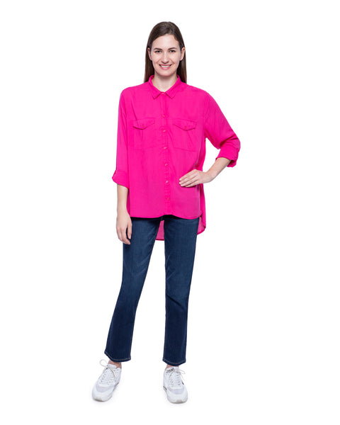 Hollister Women Pink Solid Shirt