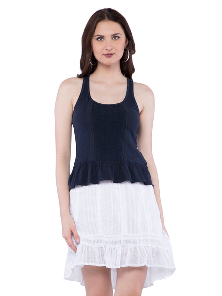 Hollister Women Black Scoop Neck Tank
