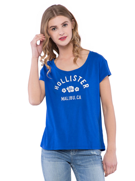 Hollister Women Scoop Neck Top