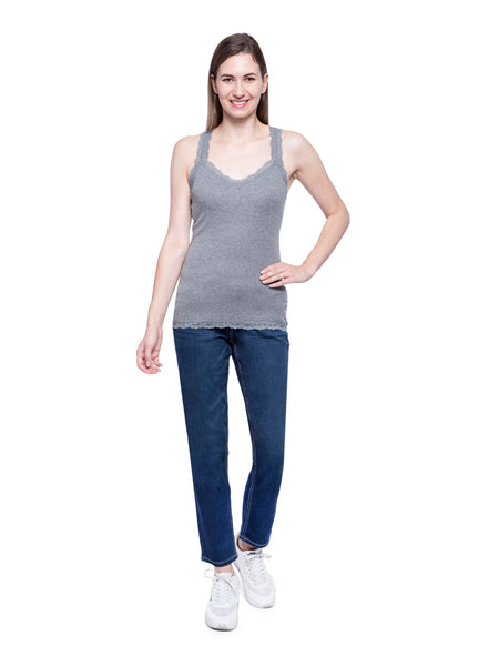 Hollister Women Grey Tank