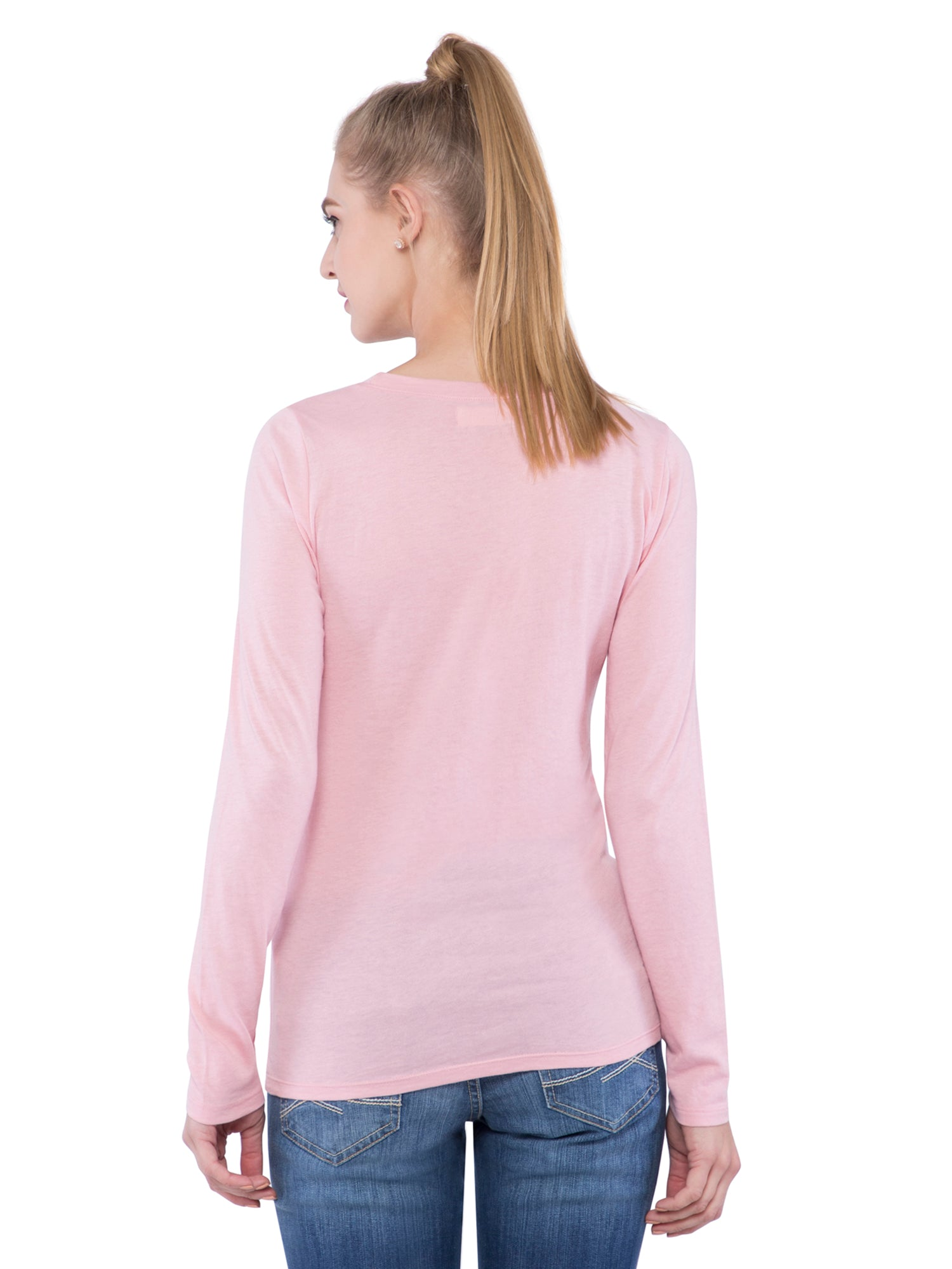 Hollister Women Light Pink Full Sleeve Round Neck Top