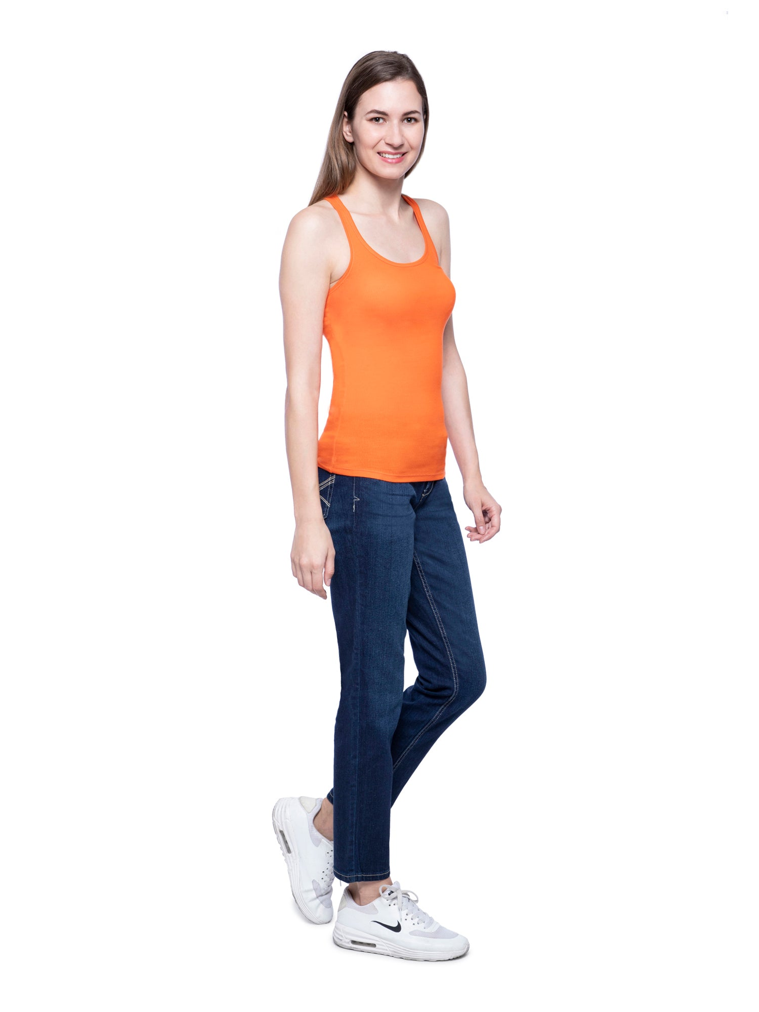 Hollister Women Orange Tank