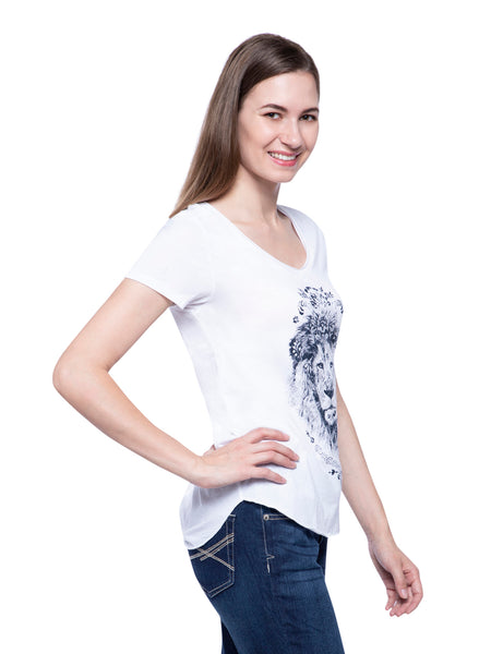 Hollister Women White Printed Round Neck Top