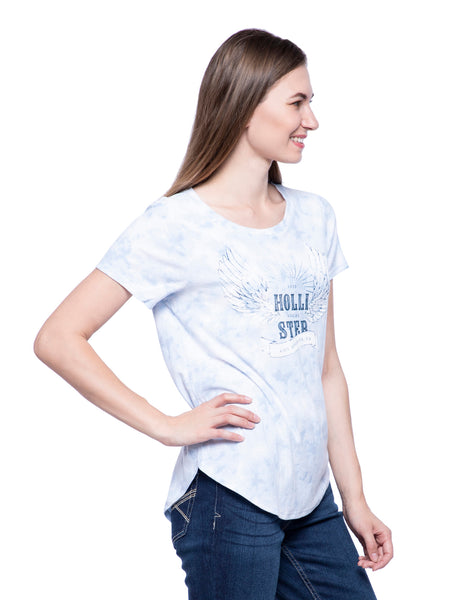 Hollister Women White Round Neck Top