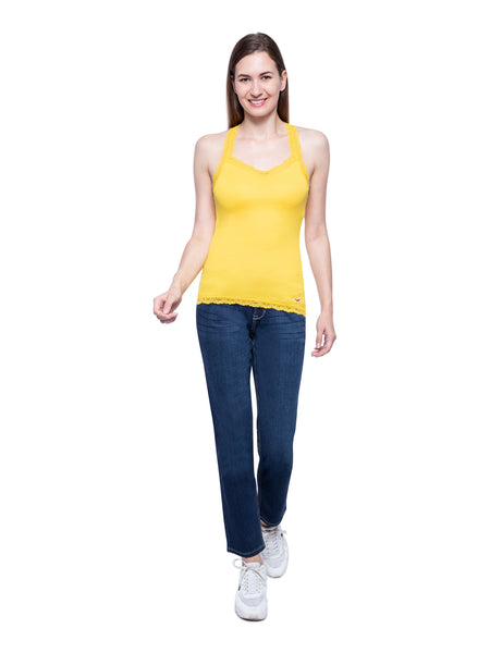 Hollister Women Yellow Tank