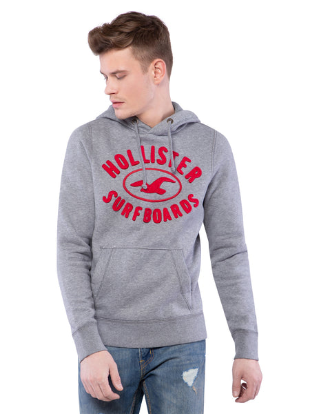 Hollister Men Grey Hoodie