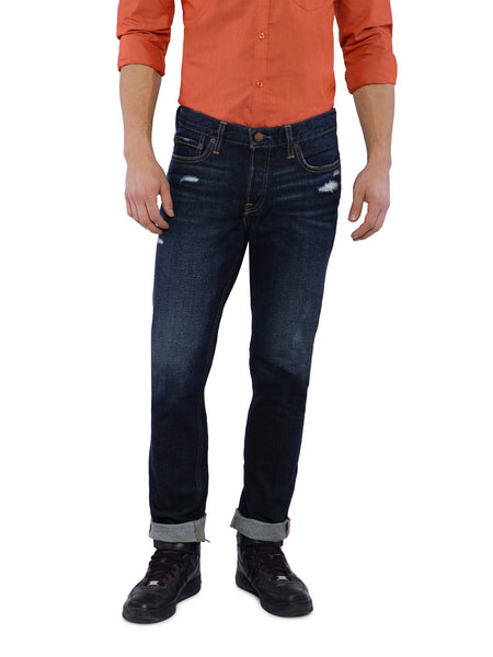 Hollister Men Blue Super Skinny Jeans