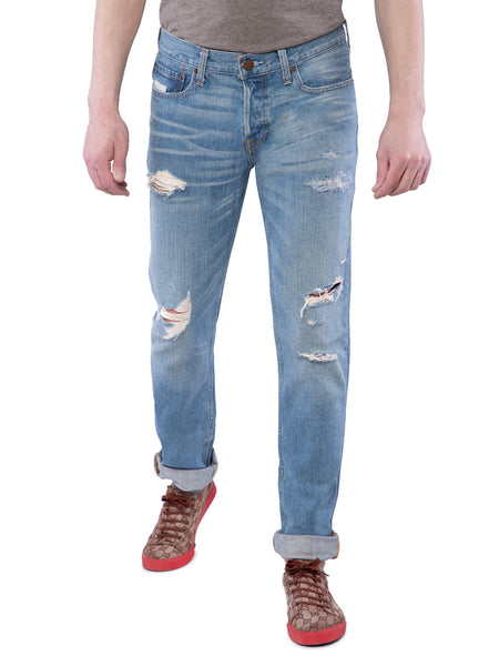 Hollister Men Light Blue Slim Straight Jeans