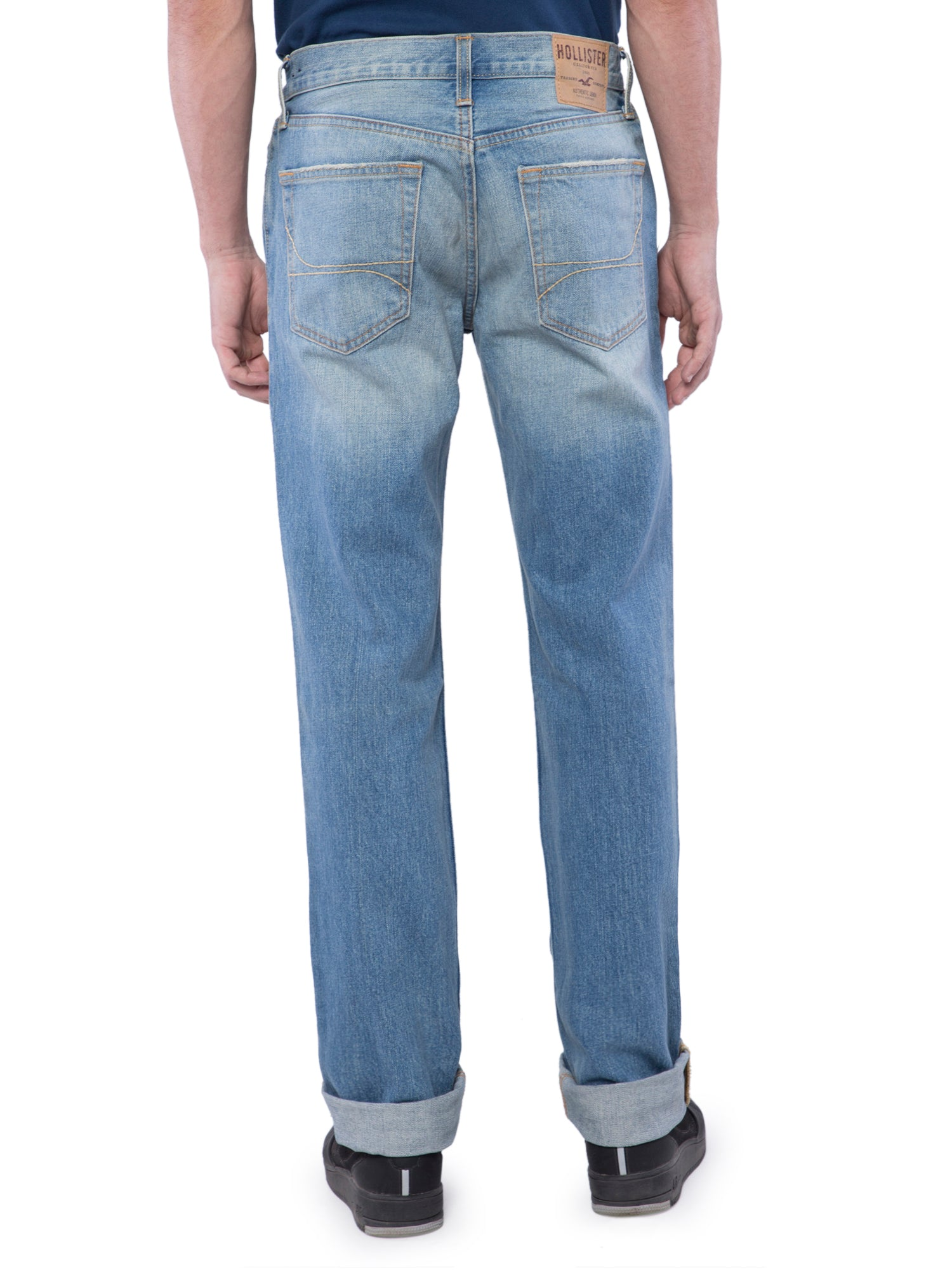 Hollister Men Blue Slim Straight Jeans