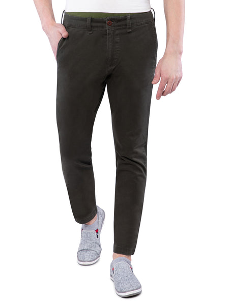 Hollister Men Dark Green Chinos