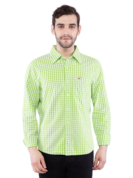 Hollister Men Light Green Shirt