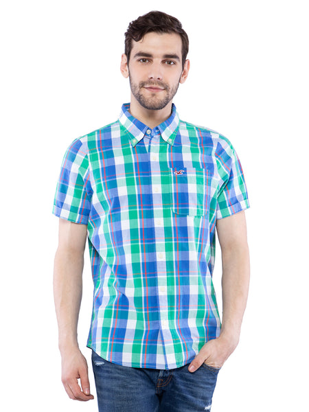 Hollister Men Multicolored Half Sleeve Shirt