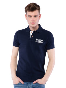 Hollister Men Black Solid Stretch Pique Polo