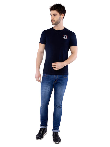 Hollister Men Black Crew Neck T-shirt