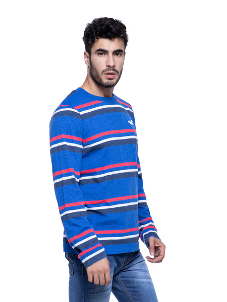 Hollister Men Blue Full Sleeve T-Shirt