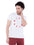 Hollister Men White Crew Neck T-Shirt