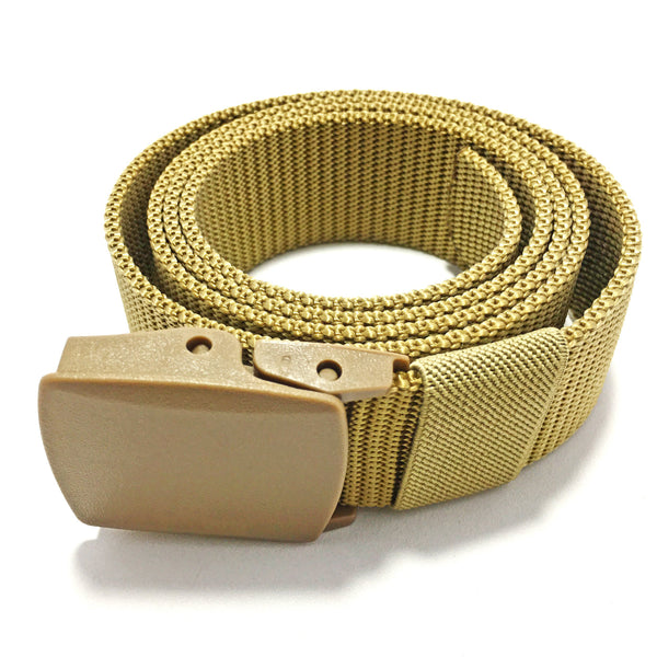 Ficuster Unisex Khaki Nylon Canvas Braided Belt