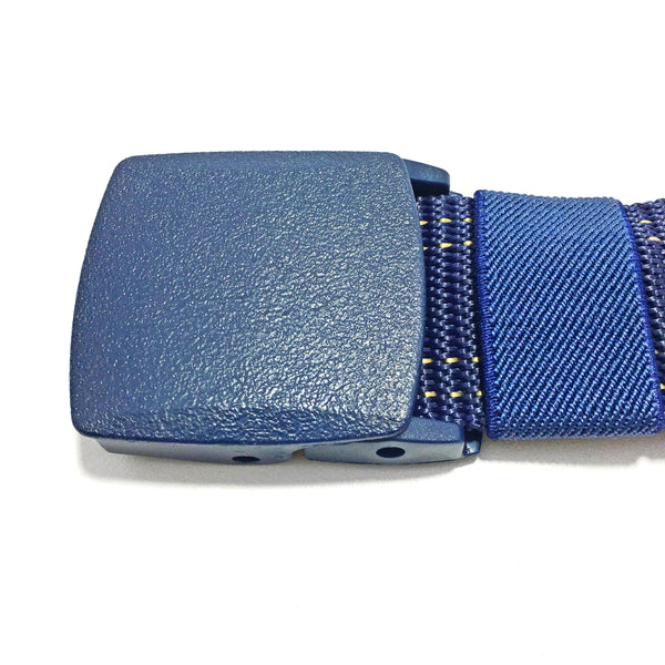 Ficuster Unisex Blue Dual Stitch Nylon Canvas Braided Belt