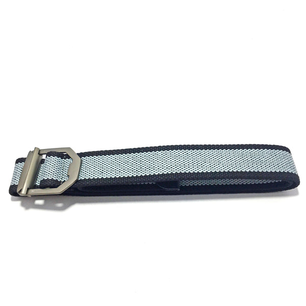 Ficuster Unisex Metal Buckle Light Blue Cotton Canvas Belt