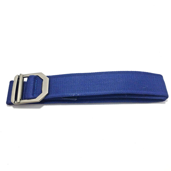 Ficuster Unisex Metal Buckle Blue Cotton Canvas Belt