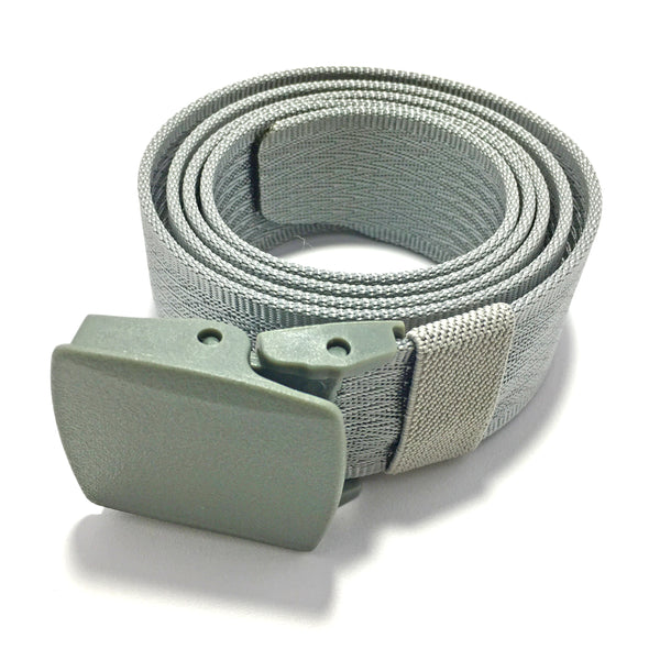Ficuster Unisex Autogrip Buckle Silver Braided Nylon Canvas Belt