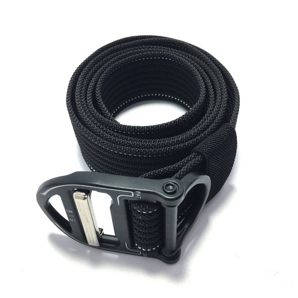 Ficuster Unisex Black Nylon Canvas Braided Belt