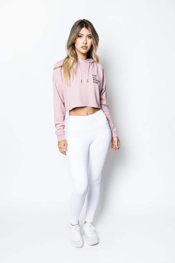 Anya Cropped Hoodie in Blossom